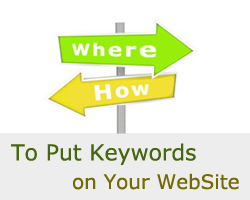Where And How To Put Keywords On Your WebSite