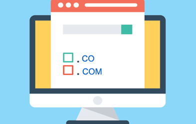 Difference between .co and .com domain ?